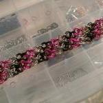 Pink Black Silver Candy Str..